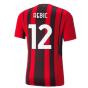 2021-2022 AC Milan Authentic Home Shirt (REBIC 12)