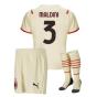 2021-2022 AC Milan Away Mini Kit (MALDINI 3)