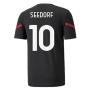 2021-2022 AC Milan Pre-Match Jersey (Black) (SEEDORF 10)