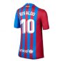 2021-2022 Barcelona Home Shirt (Kids) (RIVALDO 10)