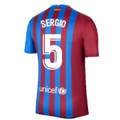 2021-2022 Barcelona Home Shirt (SERGIO 5)