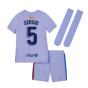 2021-2022 Barcelona Infants Away Kit (SERGIO 5)
