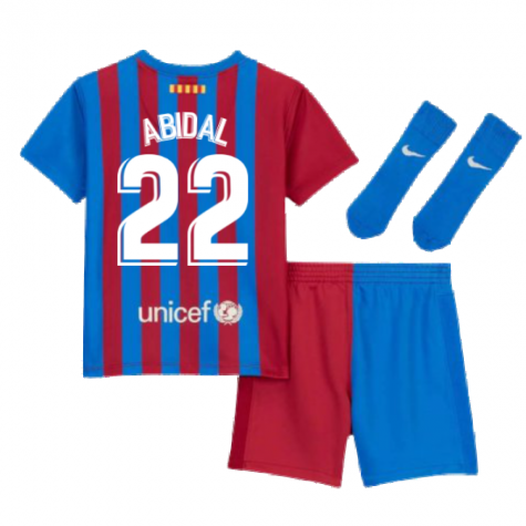 2021-2022 Barcelona Infants Home Kit (ABIDAL 22)