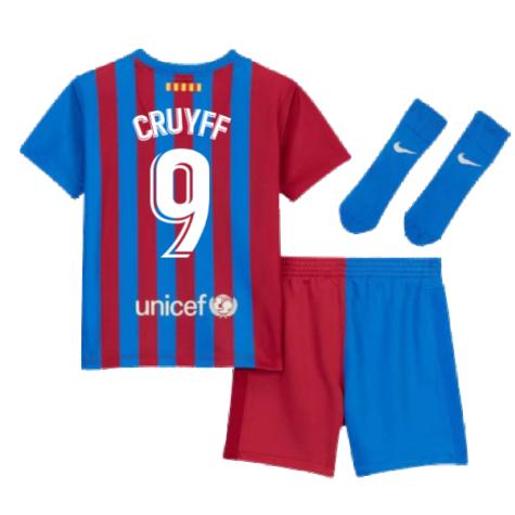 2021-2022 Barcelona Infants Home Kit (CRUYFF 9)