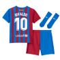 2021-2022 Barcelona Infants Home Kit (RIVALDO 10)