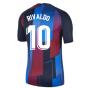 2021-2022 Barcelona Pre-Match Training Shirt (Blue) - Kids (RIVALDO 10)