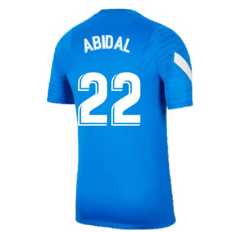 2021-2022 Barcelona Training Shirt (Blue) (ABIDAL 22)