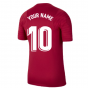 2021-2022 Barcelona Training Shirt (Noble Red) - Kids (Your Name)