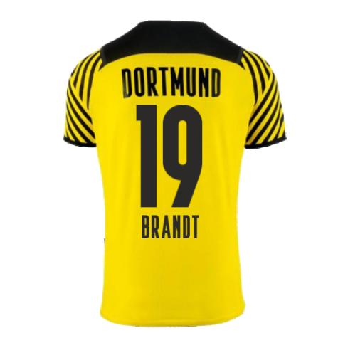 2021-2022 Borussia Dortmund Home Shirt (Kids) (BRANDT 19)