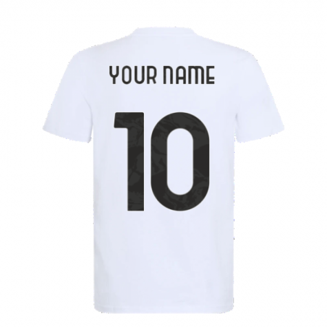 2021-2022 Juventus Training T-Shirt (White) (Your Name)