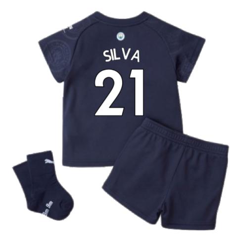 2021-2022 Man City 3rd Baby Kit (SILVA 21)