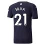 2021-2022 Man City Authentic Third Shirt (SILVA 21)