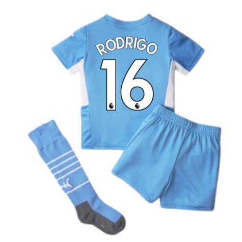 2021-2022 Man City Home Mini Kit (RODRIGO 16)