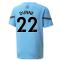 2021-2022 Man City Pre Match Jersey (Light Blue) (DUNNE 22)