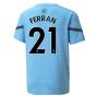 2021-2022 Man City Pre Match Jersey (Light Blue) (FERRAN 21)