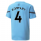 2021-2022 Man City Pre Match Jersey (Light Blue) (KOMPANY 4)