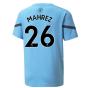 2021-2022 Man City Pre Match Jersey (Light Blue) (MAHREZ 26)