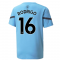 2021-2022 Man City Pre Match Jersey (Light Blue) (RODRIGO 16)