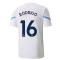 2021-2022 Man City Pre Match Jersey (White) - Kids (RODRIGO 16)
