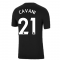 Man Utd 2021-2022 Tee (Black) (CAVANI 21)