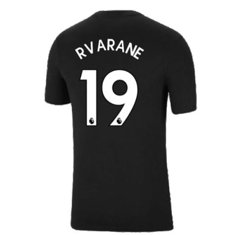 Man Utd 2021-2022 Tee (Black) (R VARANE 19)