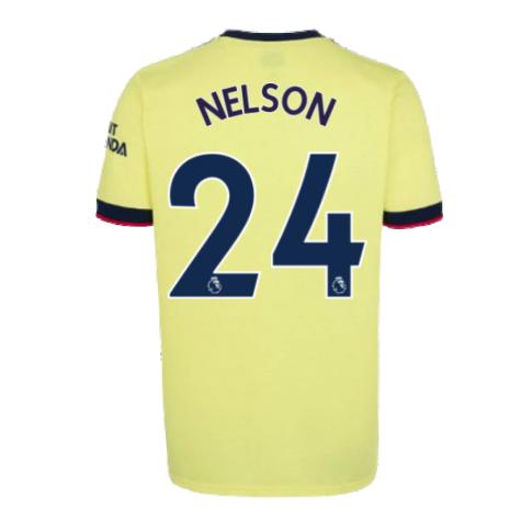Arsenal 2021-2022 Away Shirt (Kids) (NELSON 24)