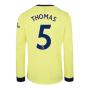 Arsenal 2021-2022 Long Sleeve Away Shirt (Thomas 5)