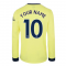Arsenal 2021-2022 Long Sleeve Away Shirt (Your Name)