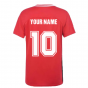 Belgium 2021 Polyester T-Shirt (Red) (Your Name)