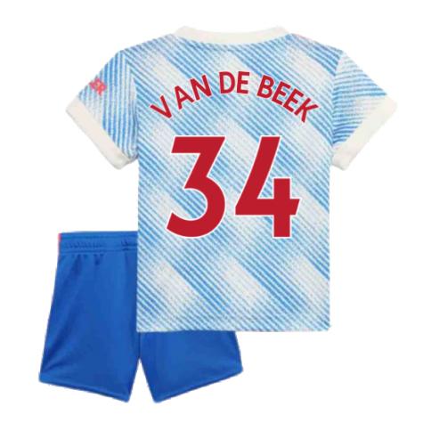 Man Utd 2021-2022 Away Baby Kit (VAN DE BEEK 34)