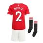 Man Utd 2021-2022 Home Mini Kit (NEVILLE 2)
