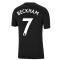 Man Utd 2021-2022 Tee (Black) (BECKHAM 7)