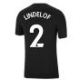 Man Utd 2021-2022 Tee (Black) (LINDELOF 2)