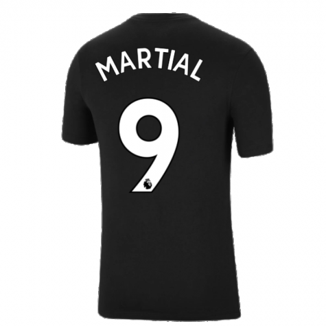 Man Utd 2021-2022 Tee (Black) (MARTIAL 9)