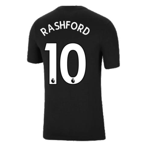 Man Utd 2021-2022 Tee (Black) (RASHFORD 10)