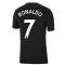 Man Utd 2021-2022 Tee (Black) (RONALDO 7)