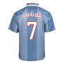 Score Draw England 1996 Away Euro Championship Retro Football Shirt (Grealish 7)