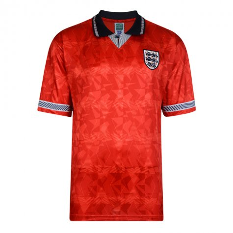 Score Draw England World Cup 1990 Away Shirt (Beardsley 9)