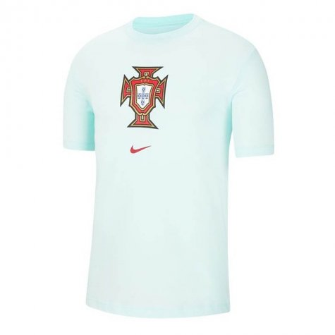2020-2021 Portugal Evergreen Crest Tee (Mint) (J Moutinho 8)
