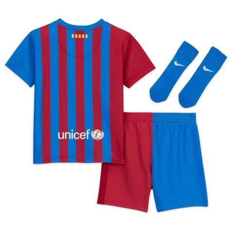 2021-2022 Barcelona Infants Home Kit (DANI ALVES 22)