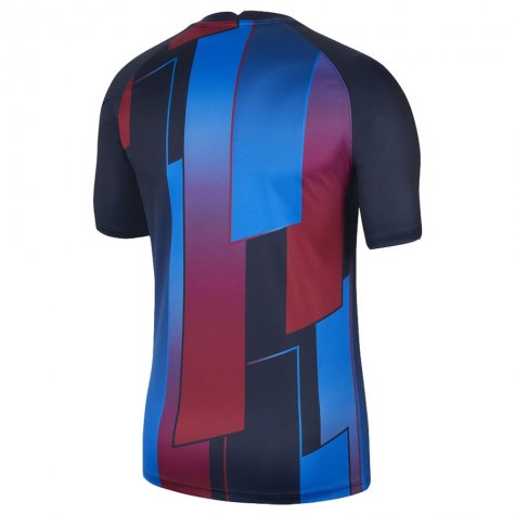 2021-2022 Barcelona Pre-Match Training Shirt (Blue) (Your Name)
