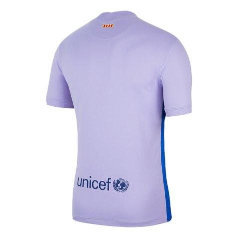 2021-2022 Barcelona Away Shirt (Kids) (A INIESTA 8)