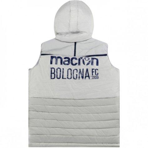 2018-2019 Bologna Macron Padded Gilet (Grey)