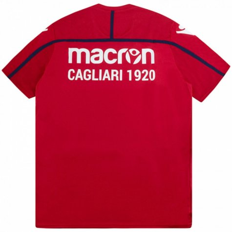 2018-2019 Cagliari Macron Training Shirt (Red)