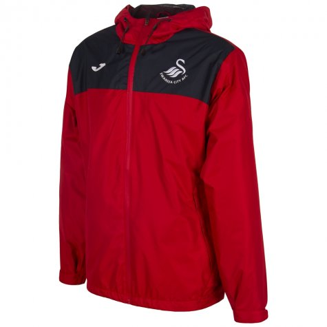 2017-18 Swansea City Joma Allweather Jacket (Red)