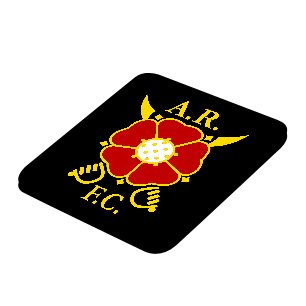 Albion Rovers Official Coaster (Black)