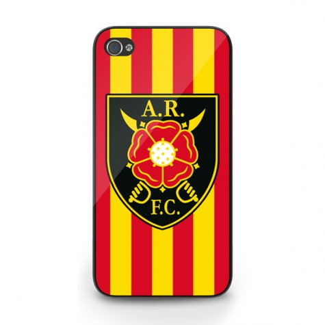 Albion Rovers Official iPhone 5 Cover (Red-Yellow)