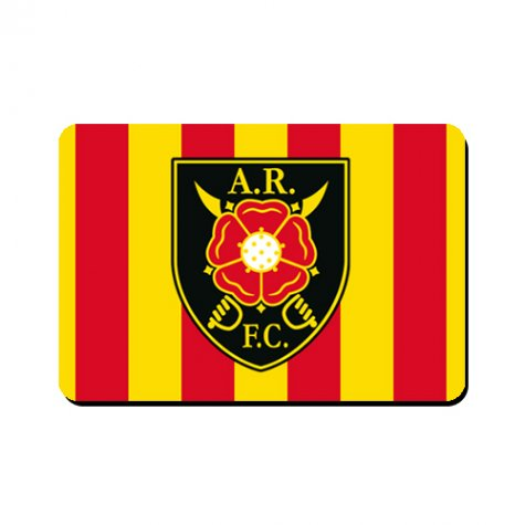Albion Rovers Official Mousemat (Red-Yellow)