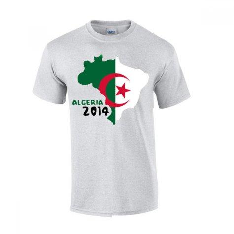 Algeria 2014 Country Flag T-shirt (grey)