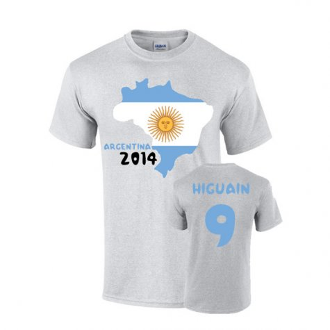 Argentina 2014 Country Flag T-shirt (higuain 9)